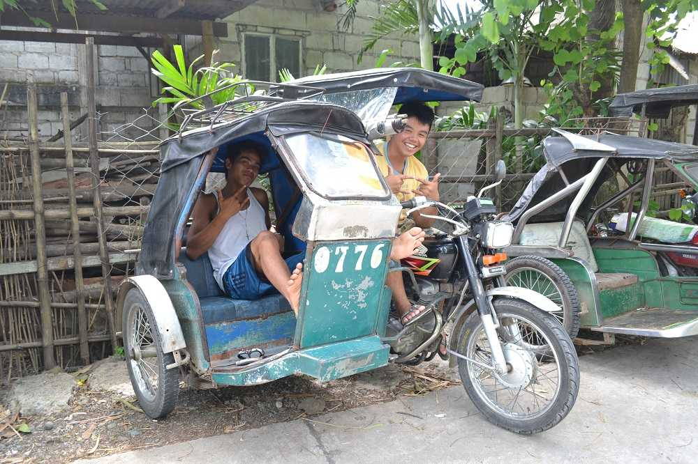 トライシクルと言う乗り物の写真