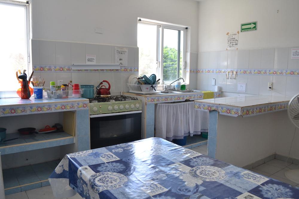 カンクンの日本人宿カサ吉田のキッチン1の写真