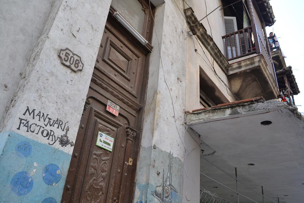 キューバ・ハバナの民宿シオマラ(入口)の写真