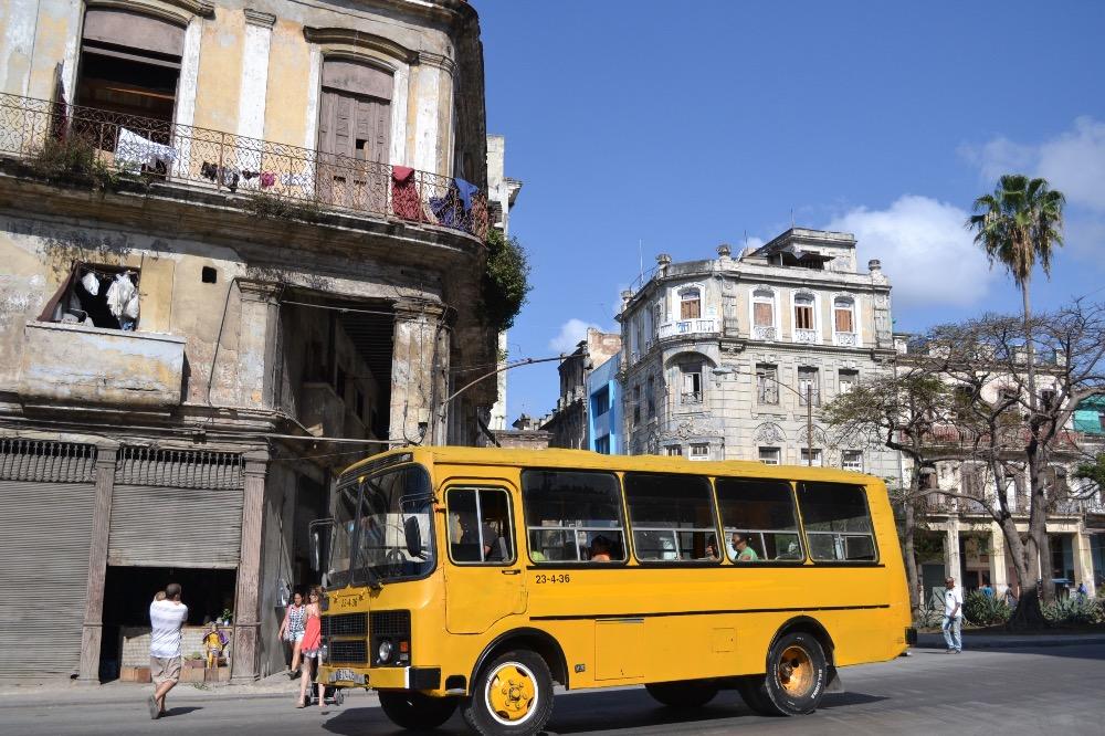 ハバナの空港から市街地までローカルバスでの行き方