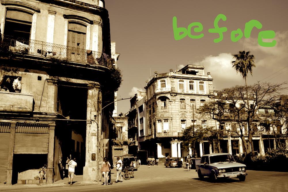 昔のキューバ(社会主義の名残)の写真