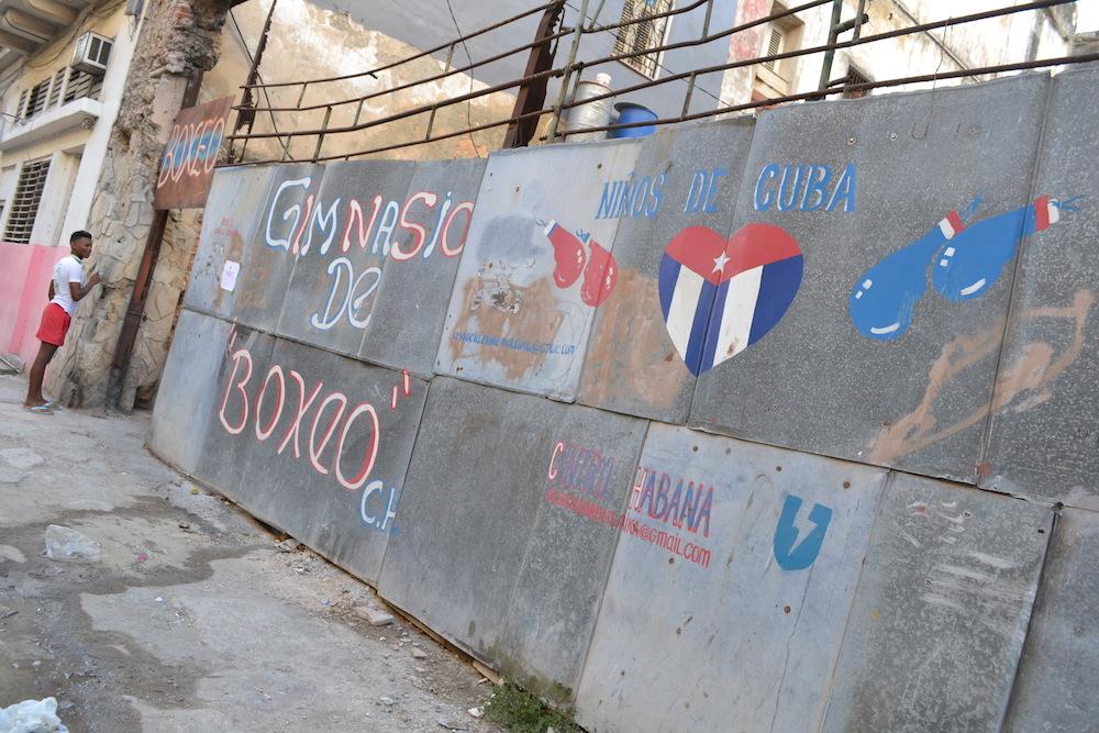 キューバ・ハバナのボクシングジムの写真