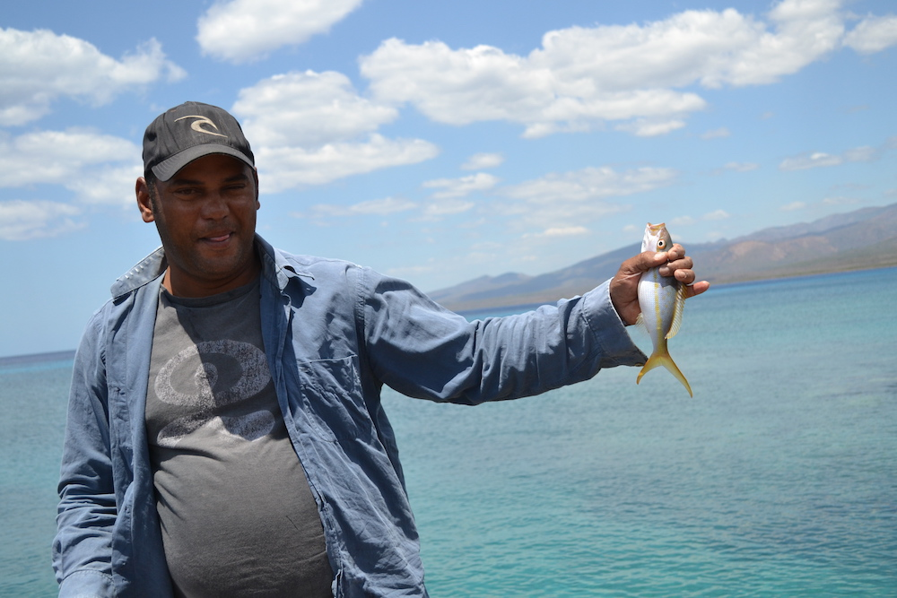 キューバ・トリニダーの民宿のオーナーレオさんの写真