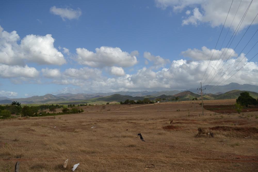 キューバ・トリニダーの郊外の景色の写真