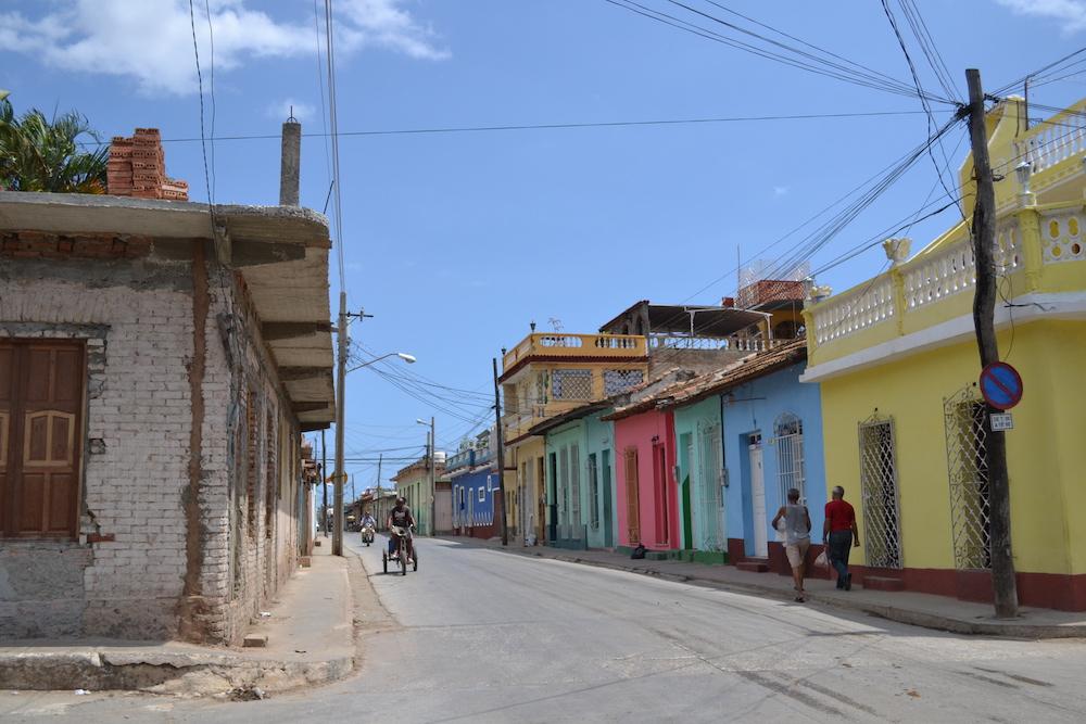 キューバ・トリニダーの町並み(カラフルな家)の写真