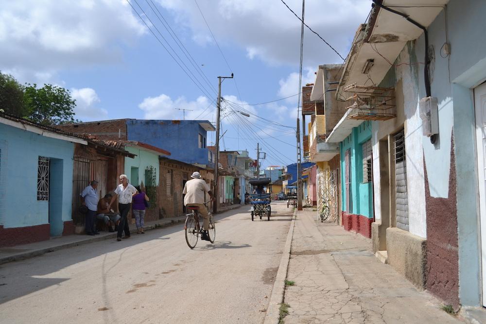キューバ・トリニダーの住宅地の写真