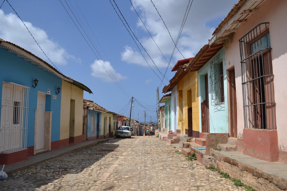 キューバ・トリニダーの住宅街の写真