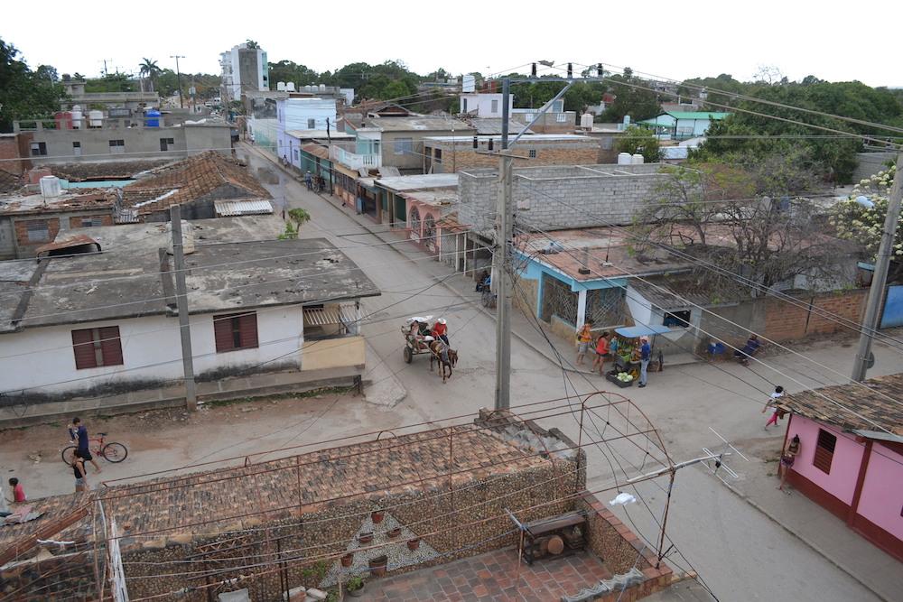 キューバ・トリニダーの町並み(宿の屋上より2)の写真