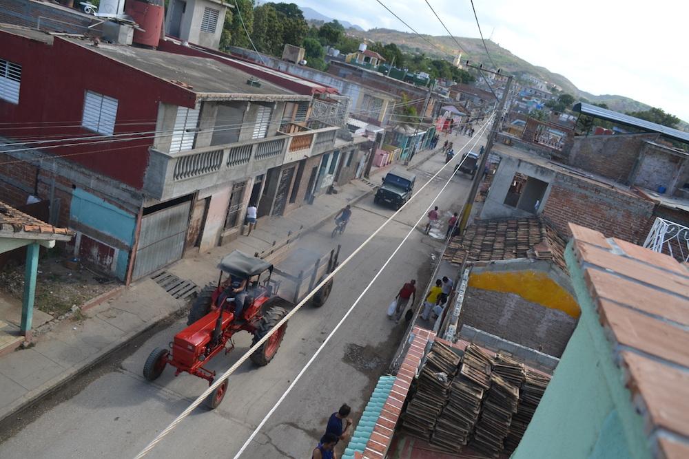 キューバ・トリニダーの町並み(宿の屋上より1)の写真