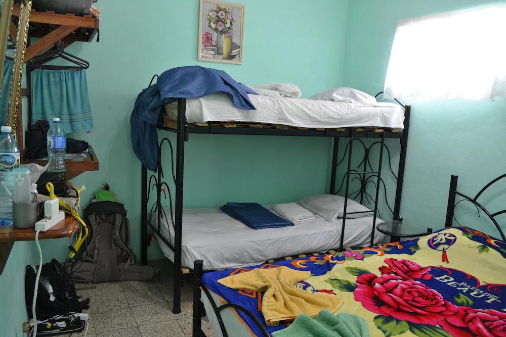 キューバ・トリニダーの日本人宿レオ&ヤミ家(客室)の写真