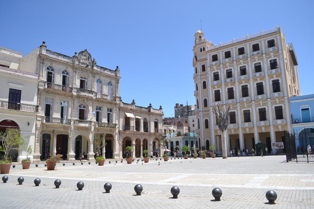キューバ・ハバナの観光地区の街並み5の写真