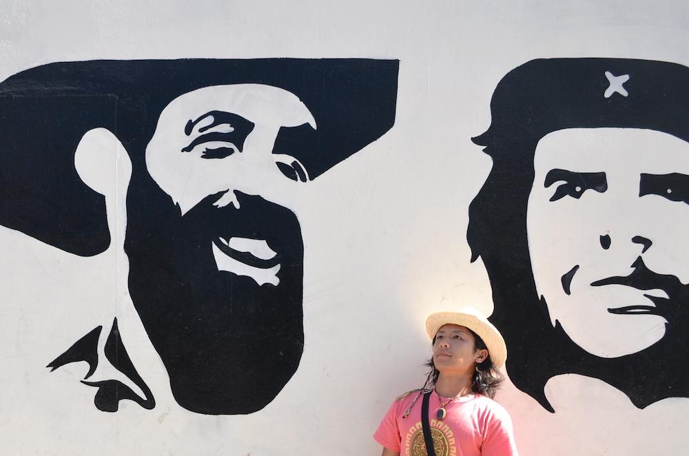 キューバで撮った自分の写真