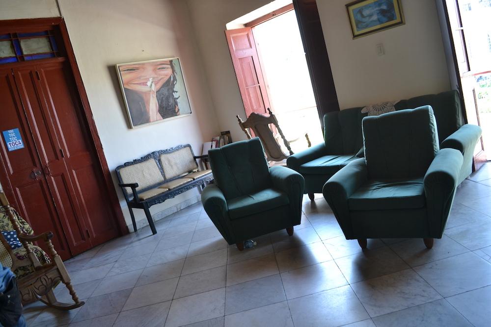 キューバ・ハバナの民宿ホアキナ(共有スペース)共有スペースの写真