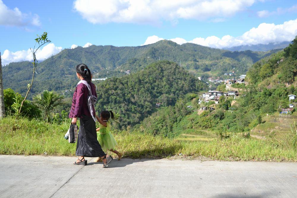バタッド村までの道の写真