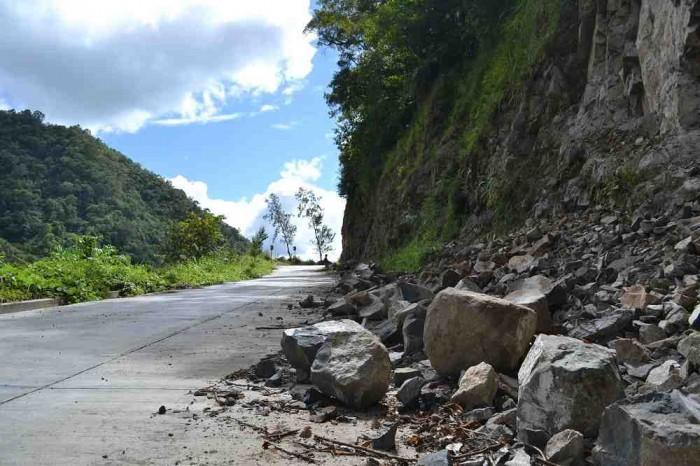落石の写真