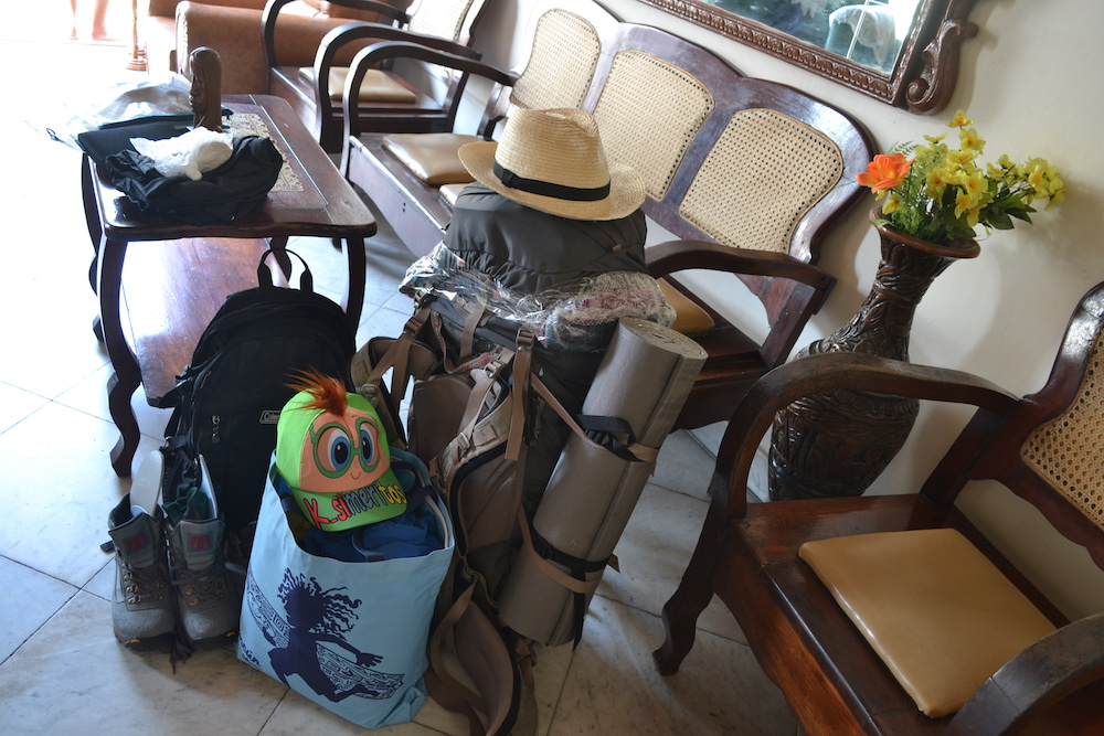 帰国時の荷物の写真