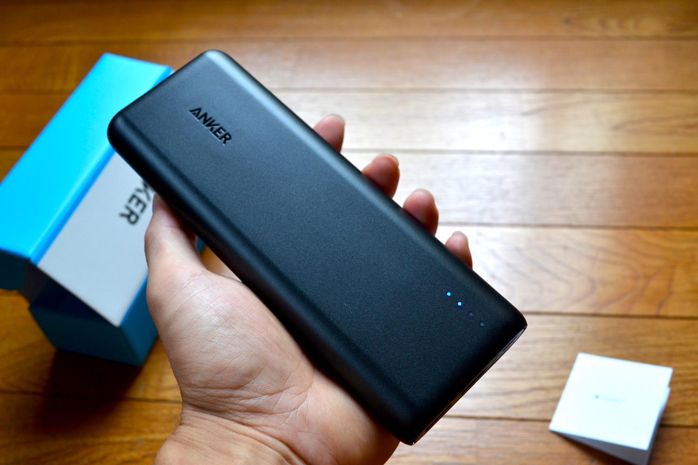 Ankerモバイルバッテリー(PowerCore20100)の写真