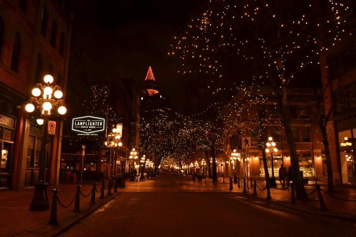 ガスタウンのイルミネーションの写真