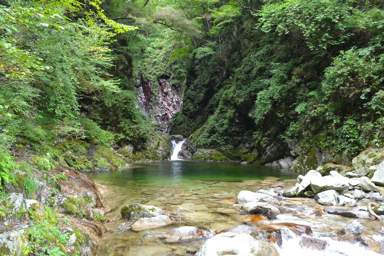 山梨県尾白川渓谷(川)の写真