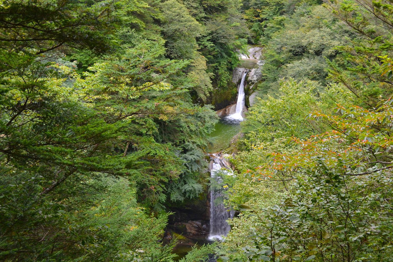 山梨県尾白川渓谷(滝)の写真