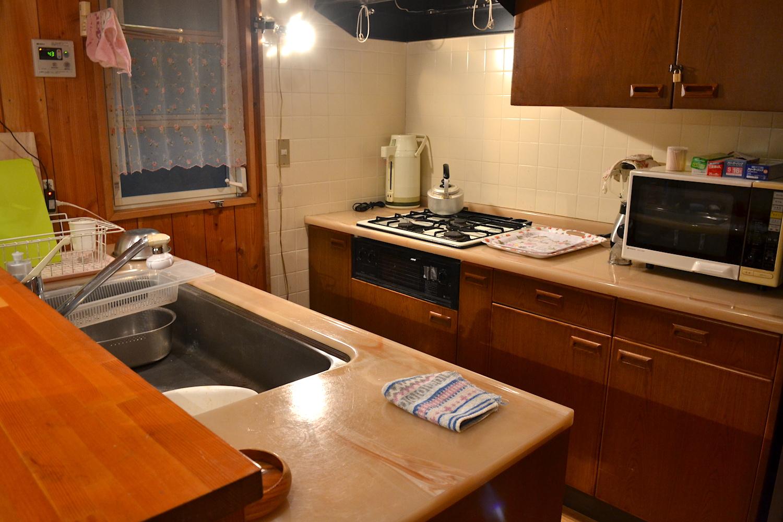 山梨県Airbnb一軒家(キッチン)の写真