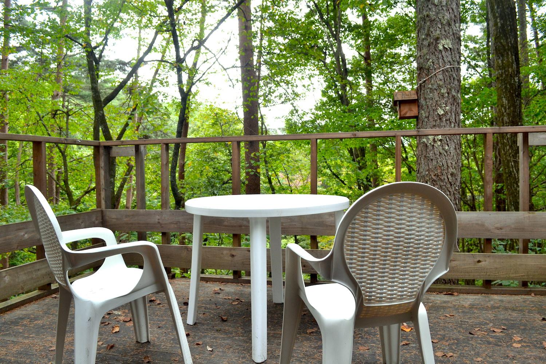 山梨県Airbnb一軒家(バルコニー)の写真