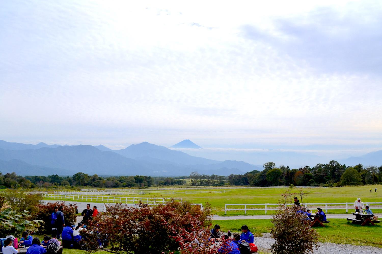 山梨県清泉寮からの景色(富士山)の写真