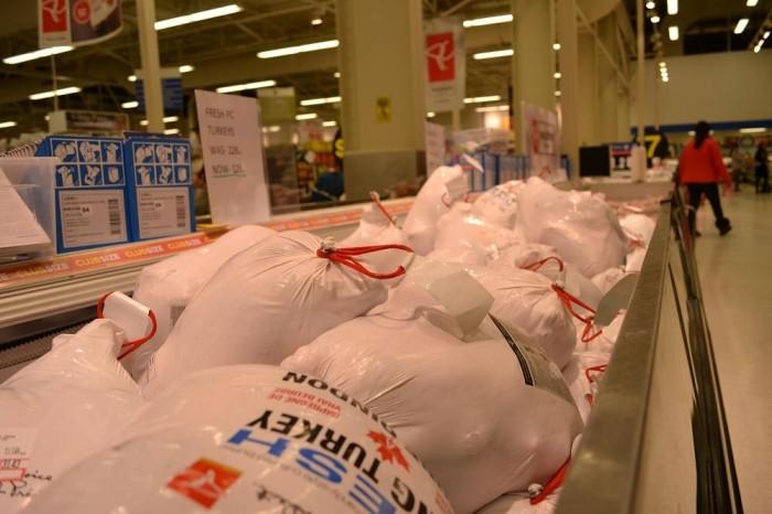スーパーマーケットの七面鳥の写真