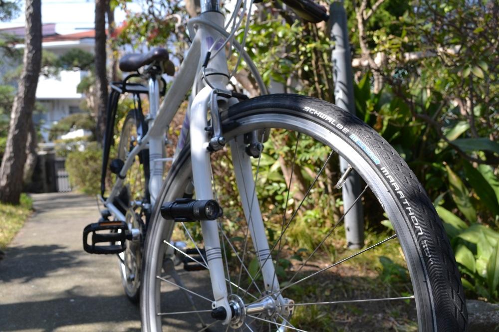自転車のプロがオススメする最強のタイヤに交換!シュワルベマラソン!
