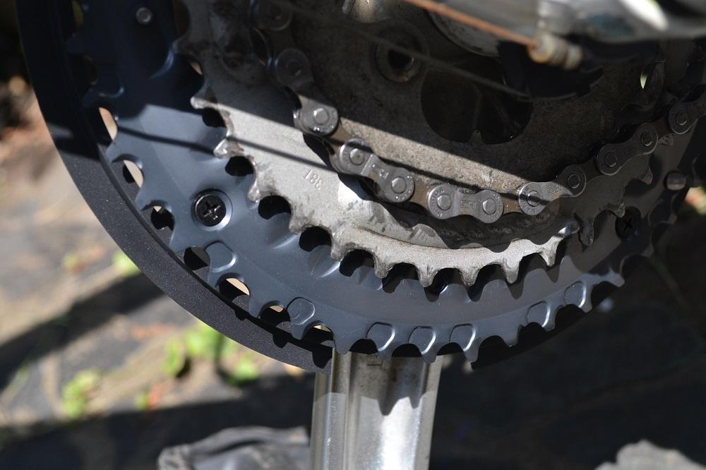 自転車チェーンリング(交換後)の写真
