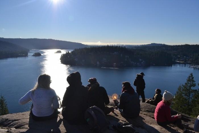 deepcove展望岩からの眺めの写真