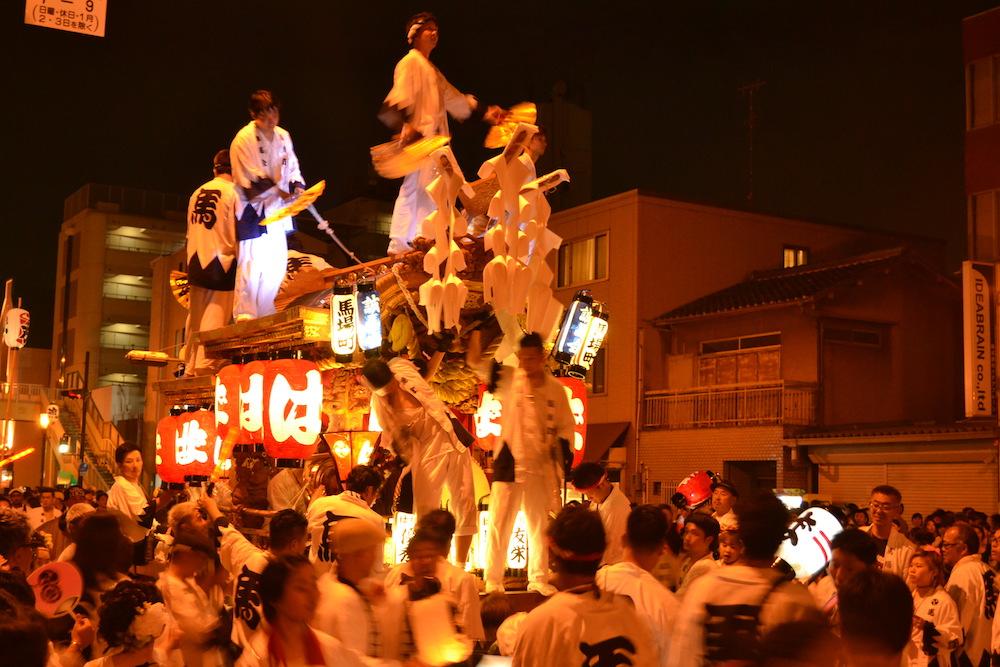 大阪平野区杭全神社だんじり祭り(九町合同曳行)1の写真