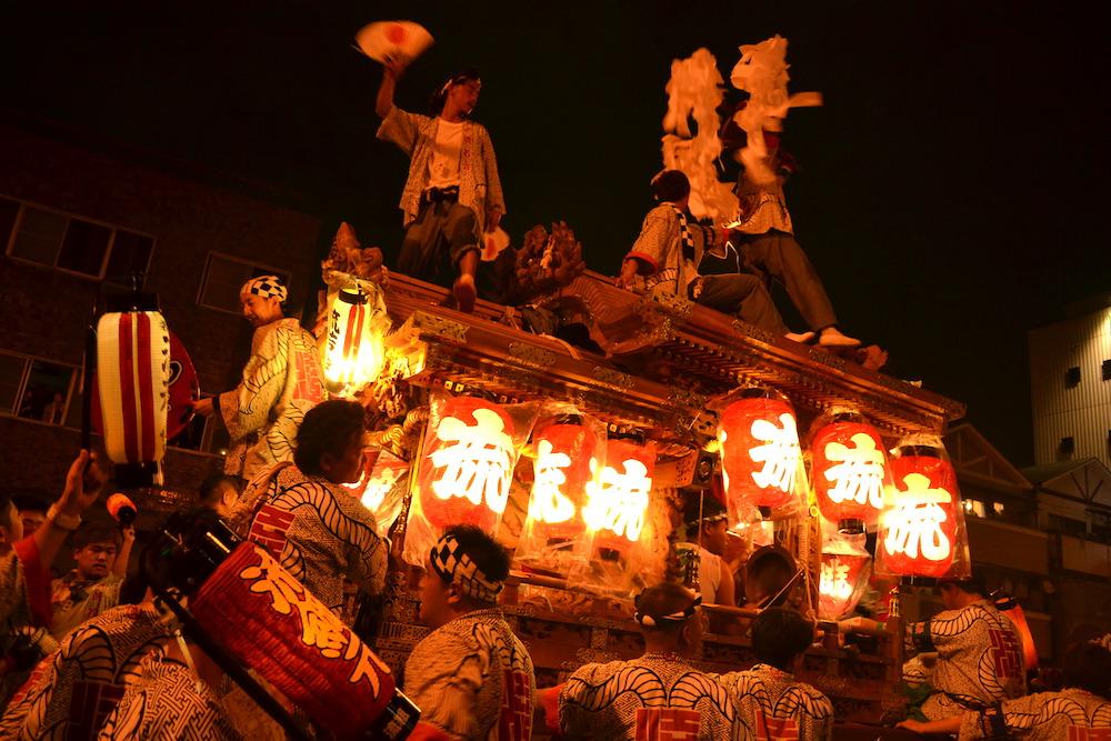 大阪平野区杭全神社だんじり祭り(九町合同曳行)2の写真