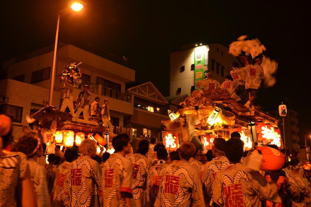 大阪平野区杭全神社だんじり祭り(九町合同曳行)3の写真