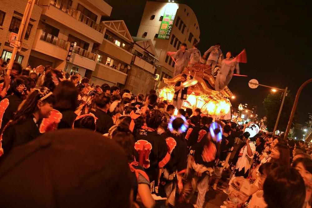 大阪平野区杭全神社だんじり祭り(九町合同曳行)5の写真