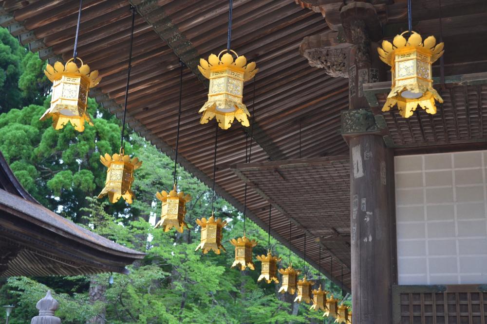 和歌山県|真言宗の総本山・金剛峯寺の金の飾り?の写真