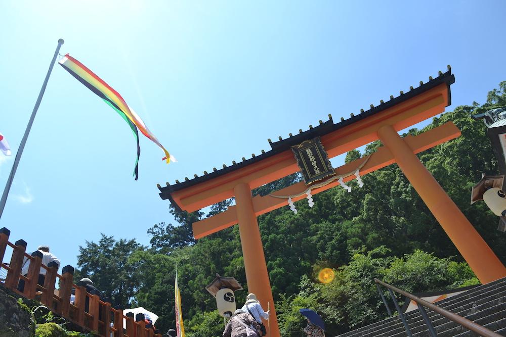 和歌山県|熊野那智大社(鳥居)の写真