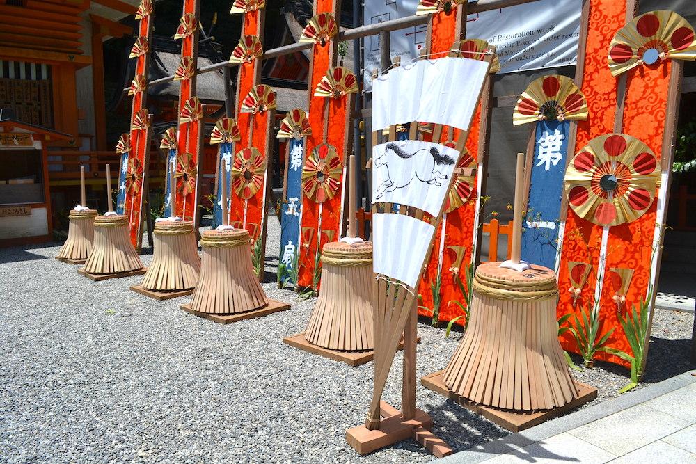和歌山県|熊野那智大社の扇祭り(12扇神輿)の写真
