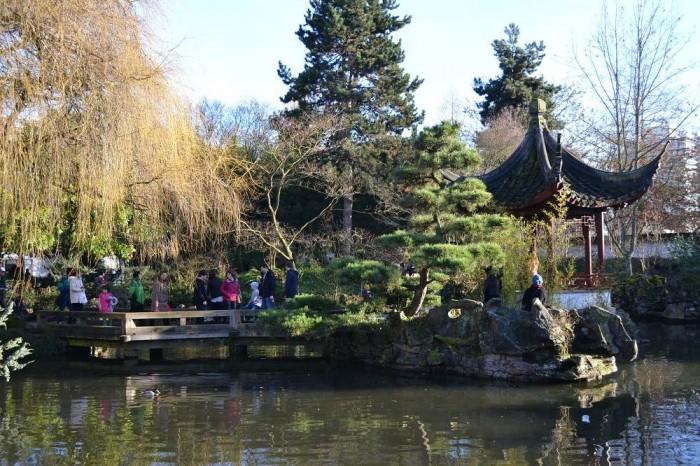 中国風の庭の写真