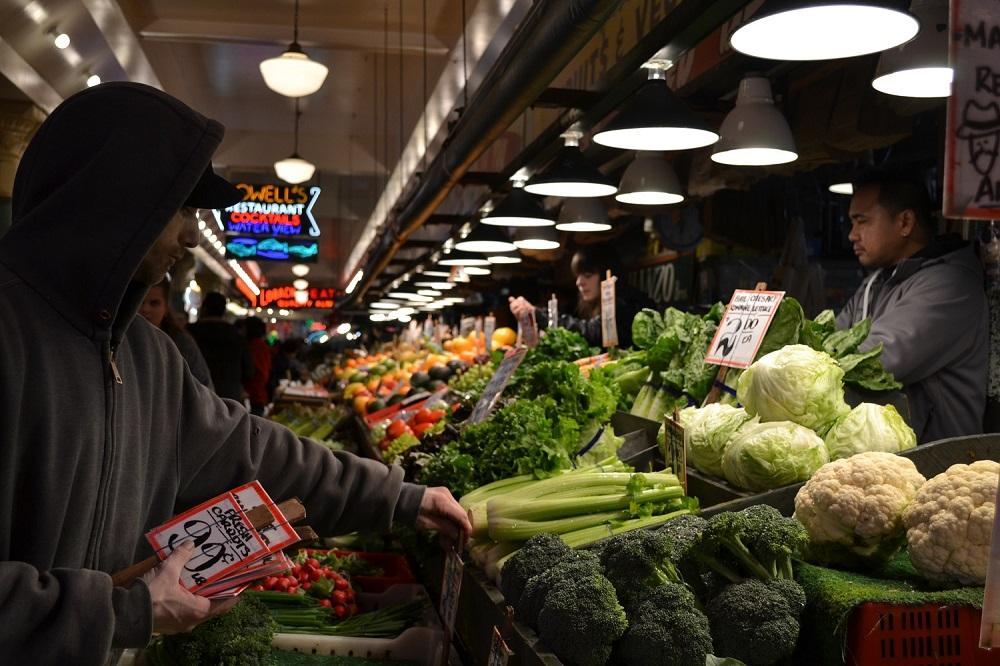 シアトルパイクプレイスマーケット(八百屋)の写真