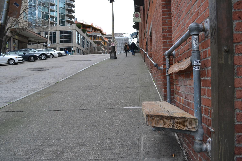 シアトルの町並み(椅子)の写真