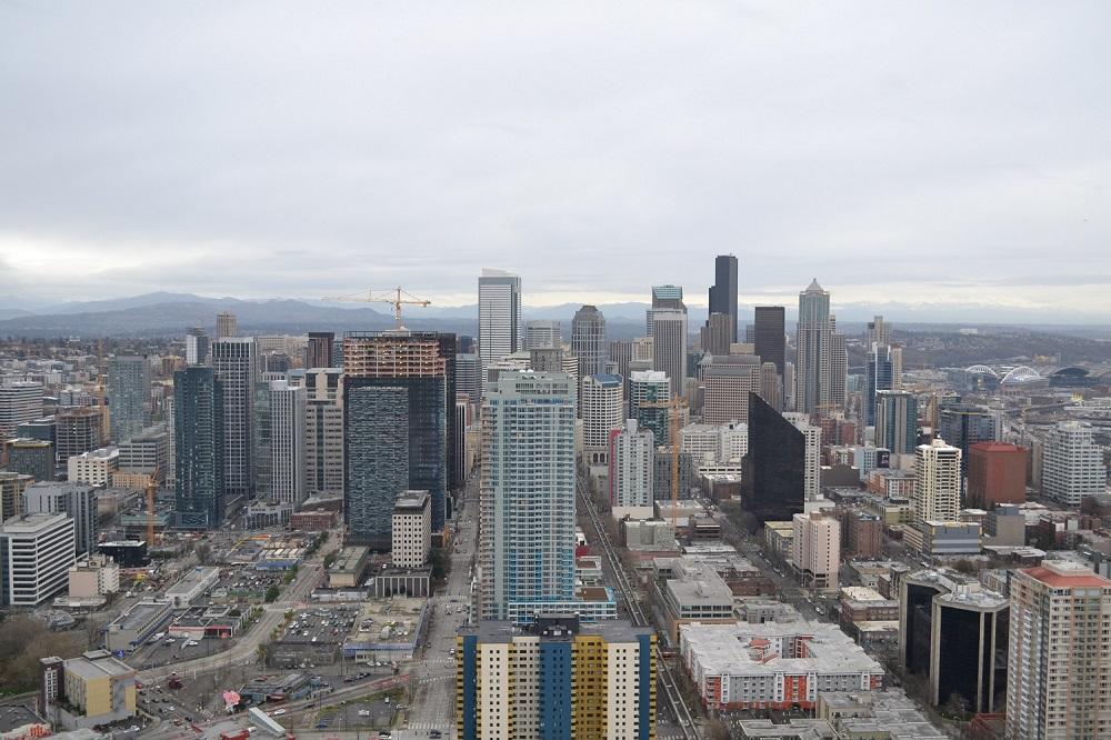 シアトルスペースニードルからの眺めの写真