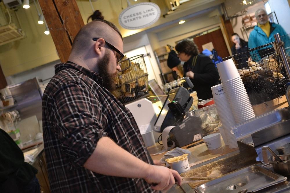 パイクプレイスマーケットのマカロニチーズ屋の写真