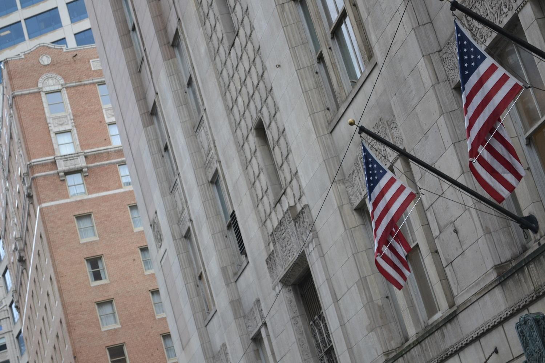 アメリカ国旗の写真