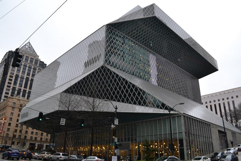 シアトル中央図書館(外観)の写真