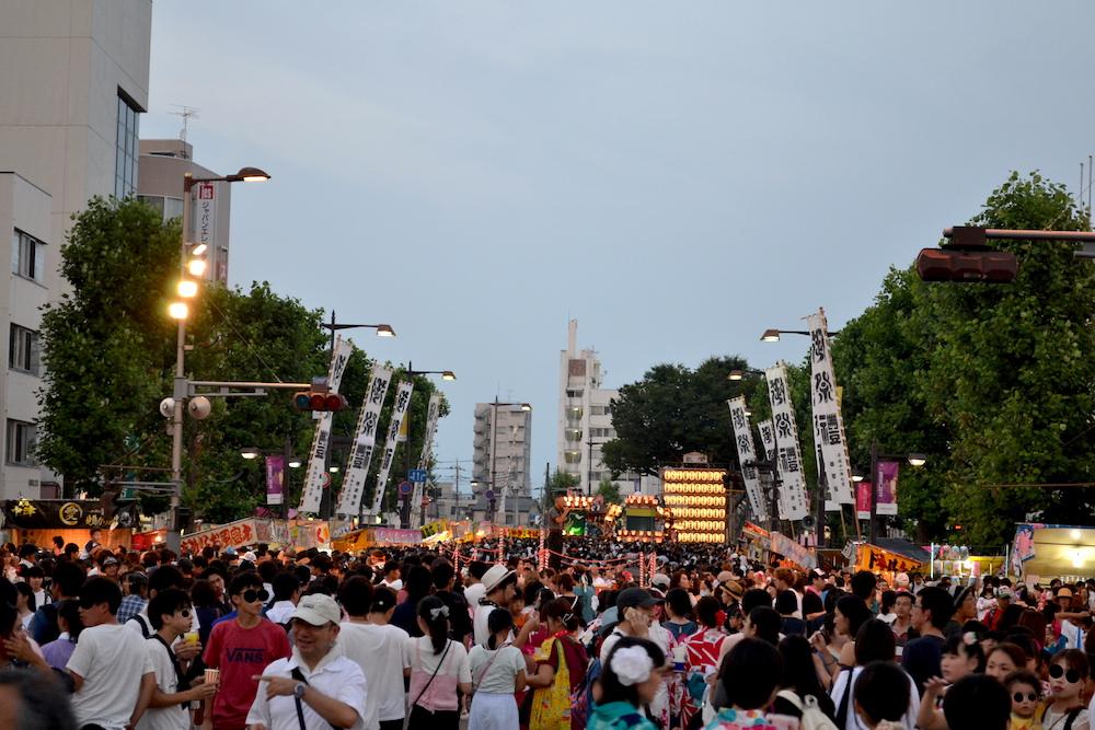 埼玉|八坂神社・熊谷うちわ祭のお祭り広場の写真