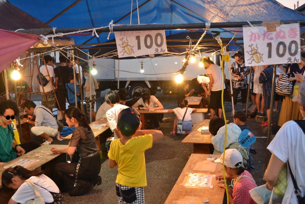 埼玉|八坂神社・熊谷うちわ祭のお祭り広場(屋台)の写真