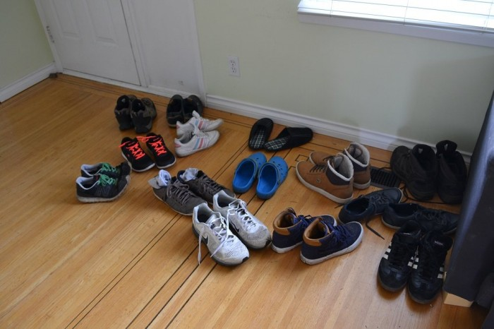 みんなの靴の写真