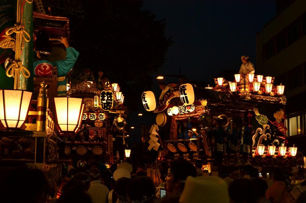 軽自動車日本一周、埼玉県熊谷うちわ祭りの写真