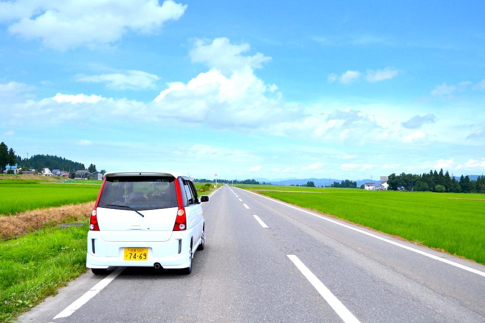 新潟県で田んぼドライブ(軽自動車日本一周)の写真